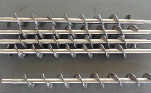 螺旋叶片采用不锈钢材料通过专用模具的浇铸而成
